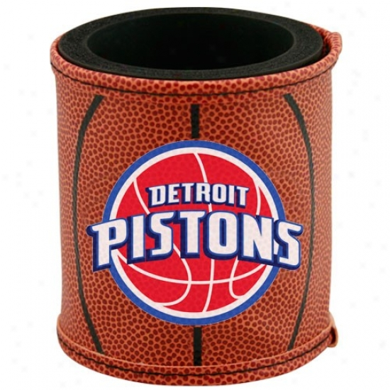 Detroit Pistons Brown Basketball Can Coolie