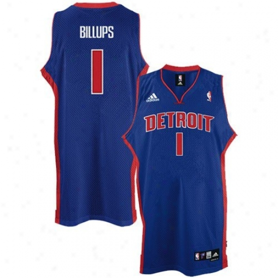 Detroit Pistons Jersey : Adidas Detroit Pistons #1 Chauncey Billups Youth Royal Blue Swingman Basketball Jersey