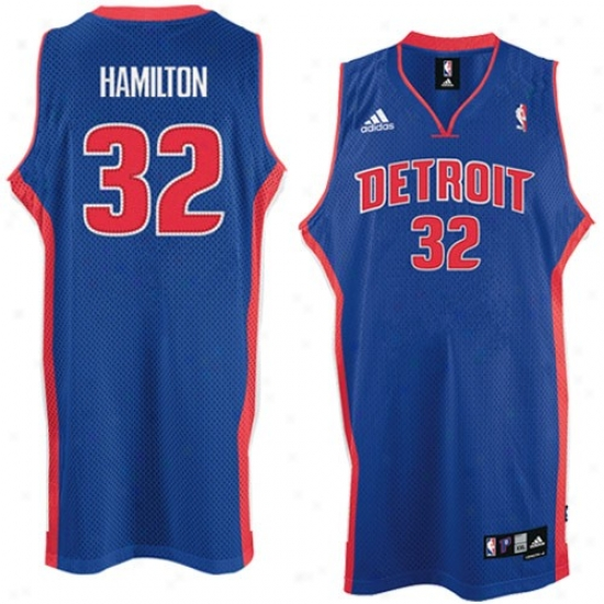 Detroit Pistons Jerseys : Adidas Detroit Pistons # 32 Richard Hamilton Royal Azure Road Swingman Basketball Jerseys