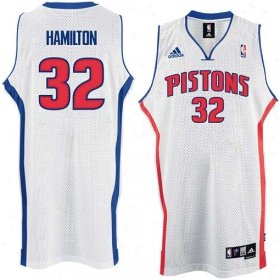 Detroit Pistons Jerseys : Adidas Detroit Pistons #32 Richard Hamilton White Home Swingman Jerseys