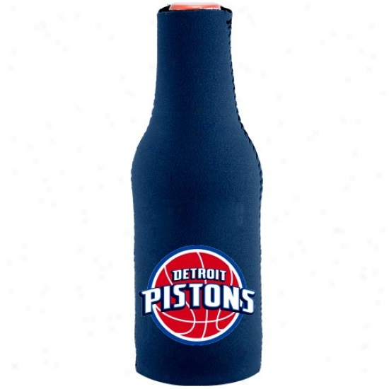 Detroig Pistons Navy Blue 12 Oz. Bottle Coolie