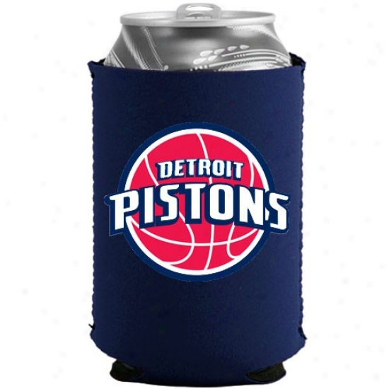 Detroit Pistons Navy Blue Collapsible Can Coloie