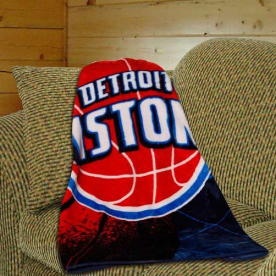 Detroit Pistons Navy Blue Reflect Royal Plush Blanket Throw