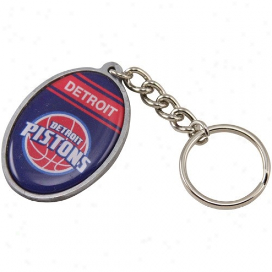 Detroit Pistons Oval Keychain