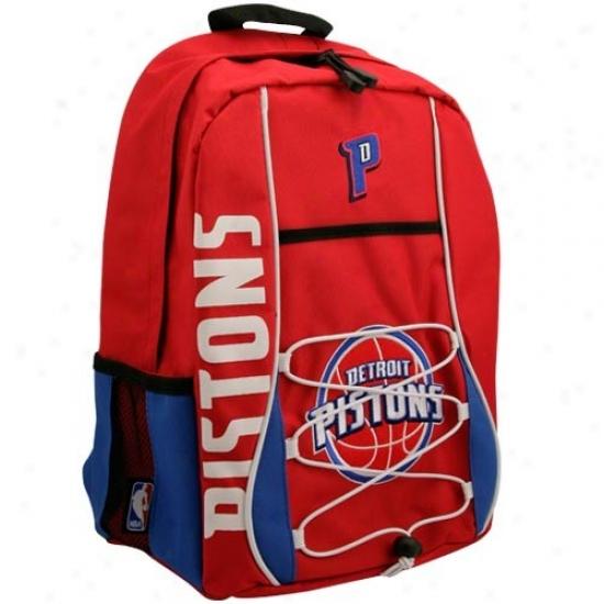 Detroit Pistons Red Standard Backpack