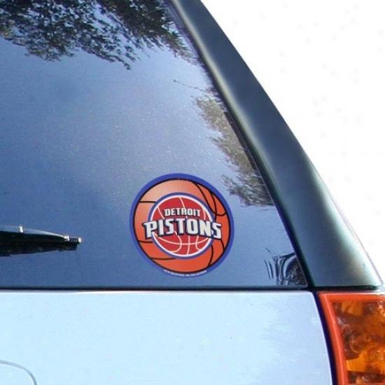 Detroit Pistons Round Vinyl Basketball Decal