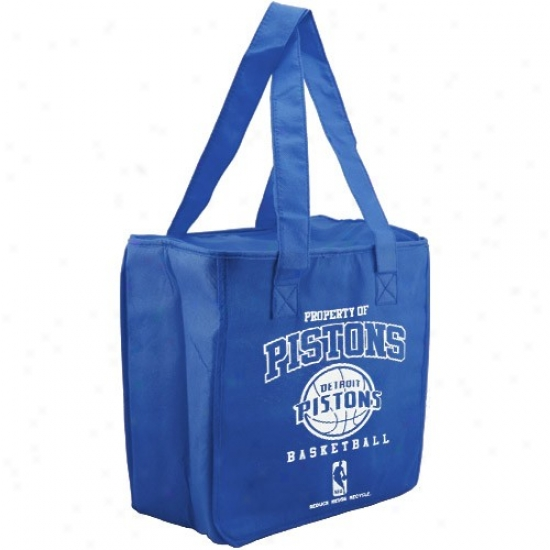 Detroit Pistons Royal Blue Reusable Insulated Tote Bag