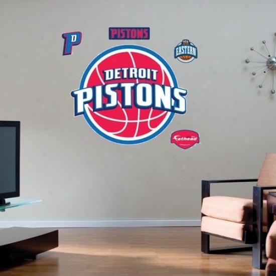 Detroit Pistons Team Logo Fathead Wall Sticker