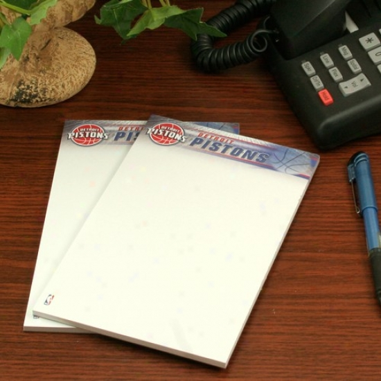 Detroit Pistons Two-pack 5'' X 8'' Team Logo Notepads
