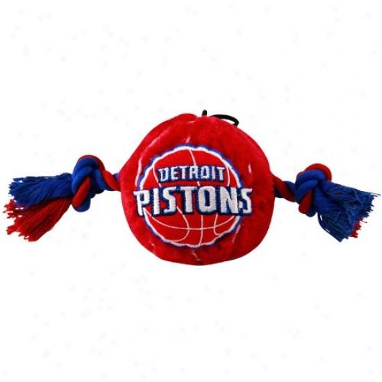 Detroit Pistons Two Tone Plush Basketball Dog Toy