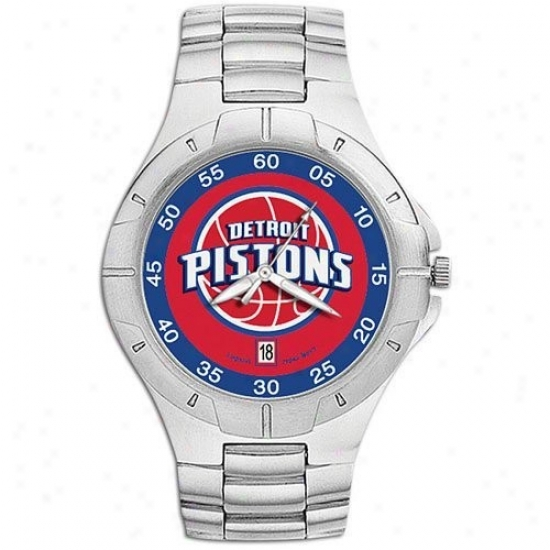 Deetroit Pistons Watches : Detroit Pistons Men's Pro Ii Watches W/stainiess Steel Band