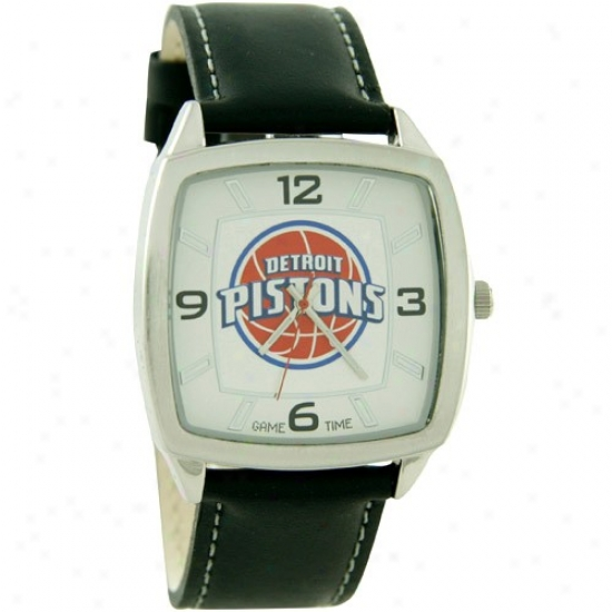 Detroit Pistons Watches : Detroit Pistons Retro Watches W/ Leather Cord