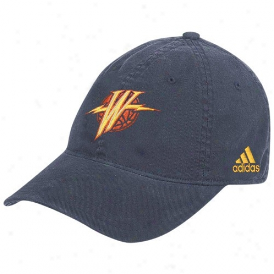 Golden State Warrior Hat : Adidas Golden State Warrior Navy Blue Slope Flex Fit Hat
