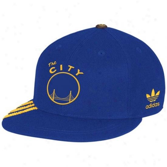 Golden State Warrior Hat : Adidas Golden State Waerior Royal Blue Championship Years Fashion Fitted Hat