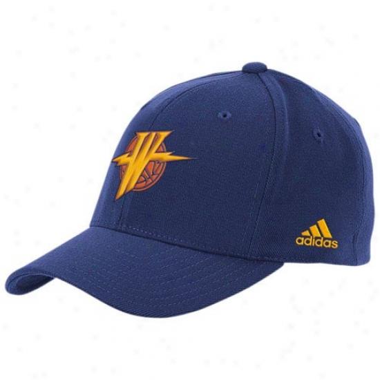 Golden State Warrior Hat : Adidas Golden State Warrior Navy Blue The Pivot Logo Flex Fit Hat