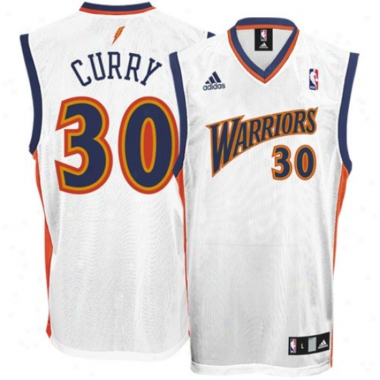 Golden State Warrior Jerseys : Adidas Golden State Warrior #30 Stephen Curry White Autograph copy Basketball Jerseys