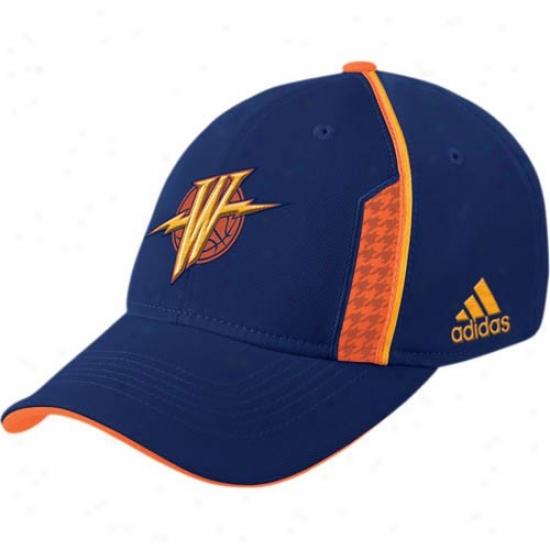 Golden State Warrior Mercandise: Adidas Golden State Warrior Navy Dismal Official Team Flex Fit Hat