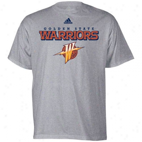 Golden State Warrior T-shirt : Adidas Golden Stqte Warrior Ash True Court T-shirt