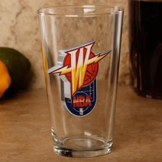 Golden State Warriors 17 Oz. Enhanced Hi-def Mixing Glass