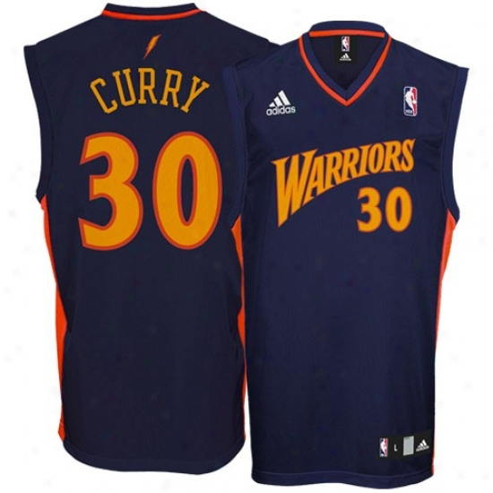 Golden State Warriors Jersey : Adidas Golden State Warroirs #30 Stephen Curry Navy Blue Replica Basketball Jersey