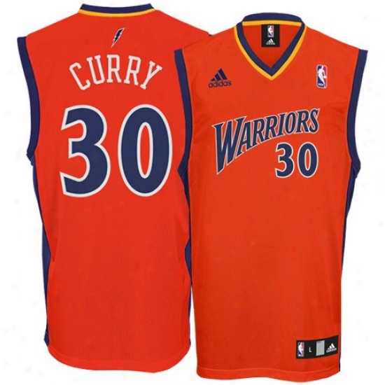 Golden Commonwealth Warriors Jersey : Adidad Golden Sgate Warriors #30 Stephen Curry Orange Replica Basketball Jersey