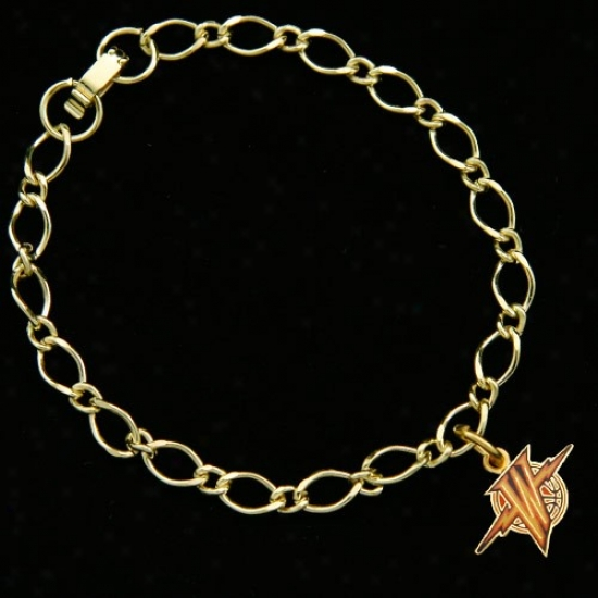 Bright National Warriors Ladies Gold-tone Charm Bracelet