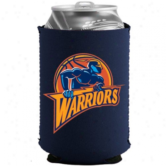 Golden State Warriors Navy Blue Collapsible Can Coolie