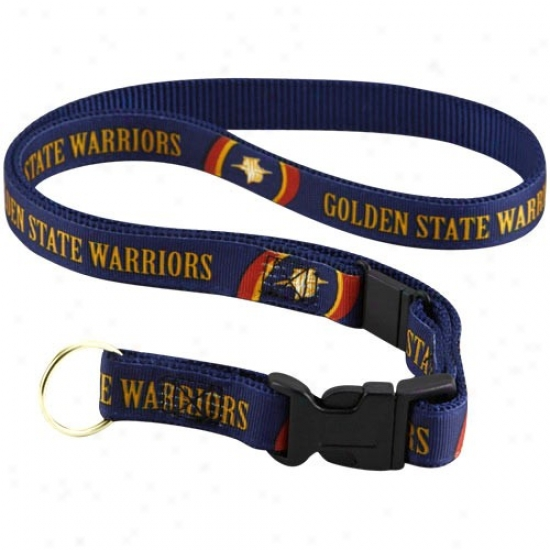 Golden State Warriors Navy Blue Lanyard