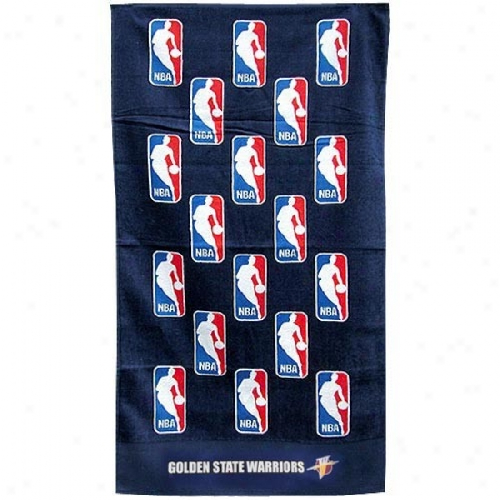 Golden State Warriors Navy Dismal Nba Bench Towel