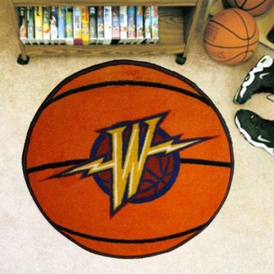 Golden State Warriors Orange Round Basketball Mat
