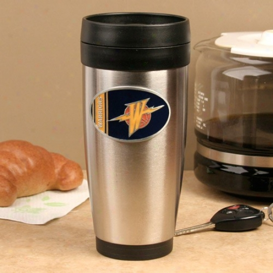 Golden State Warriors Stainless Steel Team Logo Travel Tumbler