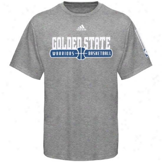 Golden State Warriors T-shirt : Adidas Golden State Warriors Ash Horizon T-shirt