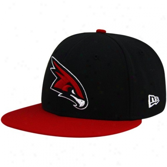Hawls Caps : New Era Hawks Black-red League 59fifty Fitted Caps
