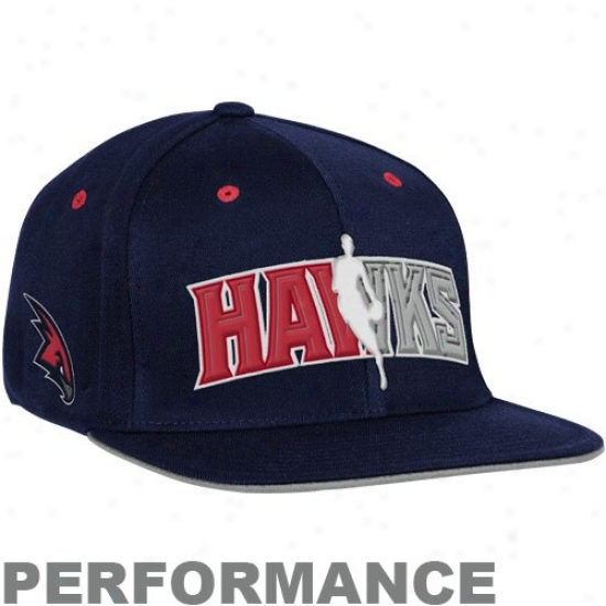 Hawjs Hat : Aidas Hawks Navy Blue Official Draft Day Fitted Hat