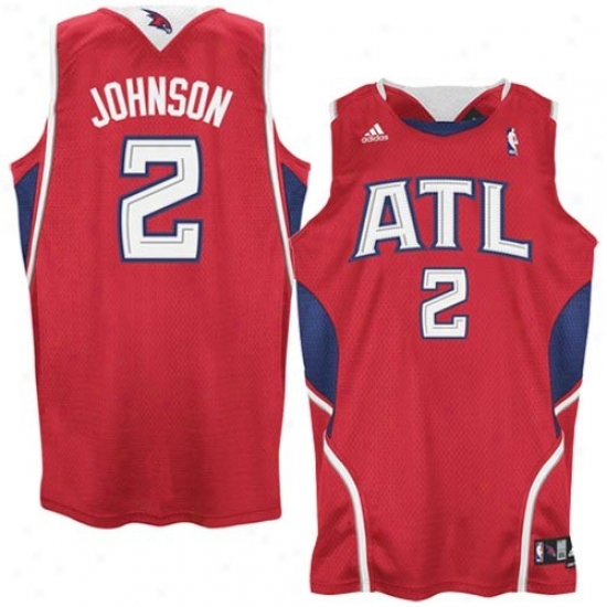 Hawks Jersey : Adidas Hawks #2 Joe Johnson Red Swingman Basketball Jersey