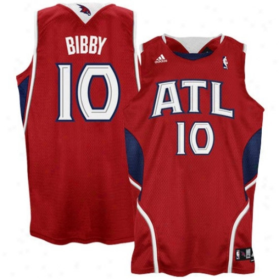 Hawks Jerseys : Adidas Hawks #10 Mike Bibby Red Swingman Basketball Jerseys