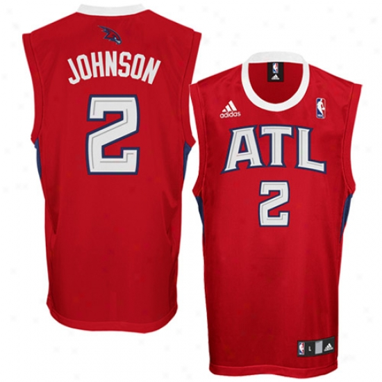 Hawkks Jerseys : Adidas Hawks #2 Joe Johnson Red Replica Basketball Jerseys