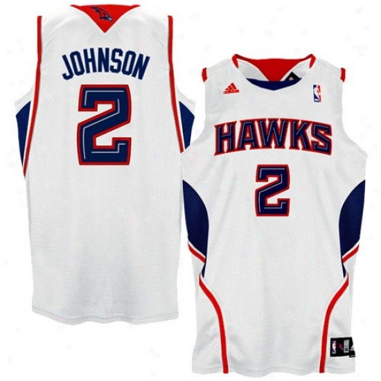 Hawks Jersys : Adidas Hawks #2 Joe Johnson White Swingman Basketball Jerseys