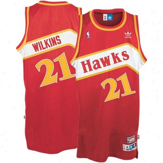 Hawks Jerseys : Adidas Hawks #21 Dominique Wilkins Red Hardwood Classic Swingman Basketball Jerseys