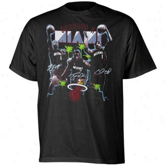 Warm Attire: Adidas Heat Black Bienvenido T-shirt