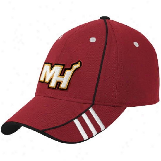 Warm Hat : Adidas Heat Red Official Team Adjustable Hat
