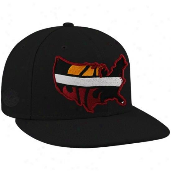 Heat Hat : New Era-espn Heat Black Insider Premium Fitted Hat