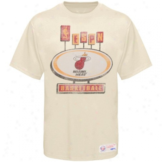 Heat Shirt : Sportiqe-espn Heat Cream Pancakes Distressed Premium Shirt