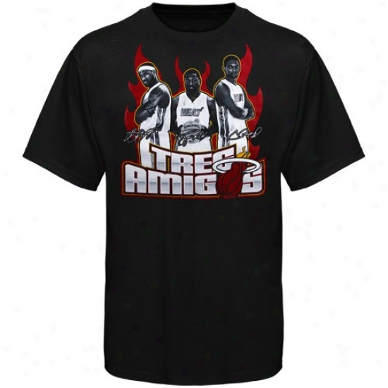 Heat Tees : Adidas Heat Black Three Amigos Tees