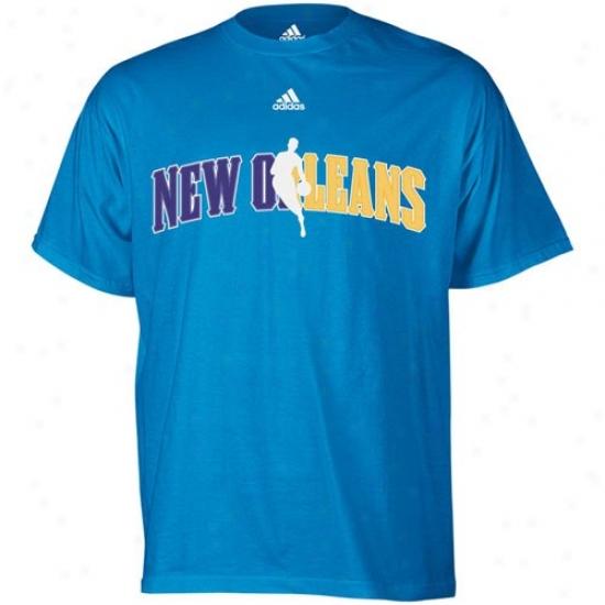 Hornetz Attire: Adidas Hornets Light Blue 2010 Draft Dribbldr T-shirt