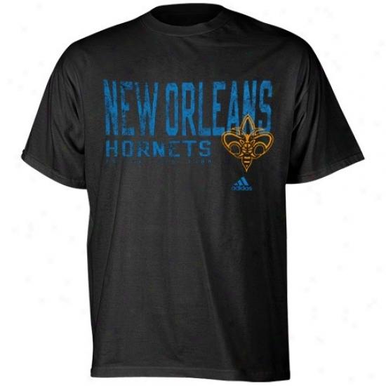 Hornets Shirts : Adidas Hornets Black Fringed Shirts