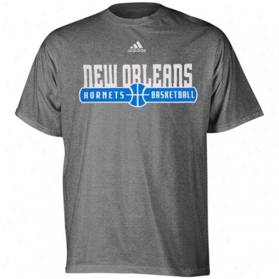 Hornets T Shirt : Adidas Hornets Dark Gray Ball Horizon T Shirt