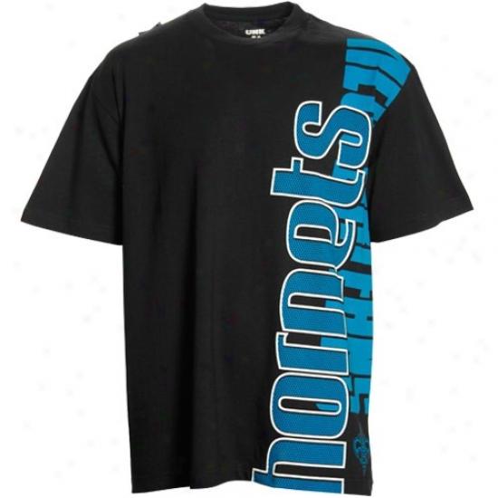 Hornets Tees : Hornets Black Sideways Tees