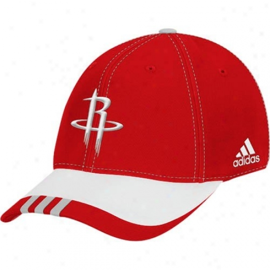 Houston Rocket Cap : Adidas Houston Rocket Red Youth Draft Day Flex Fit Cap