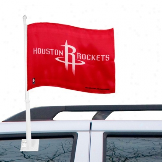 Houstoh Rocket Flag : Houston Rocket Red Car Flag